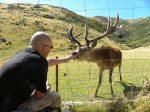 Me feeding reindeer